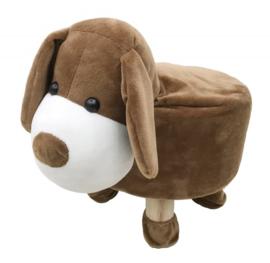 Plusche kinder voetenbankje Hond / Dog