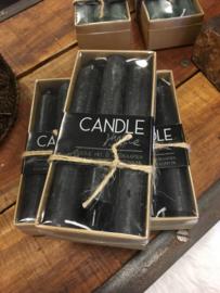 Doosje kaarsen Rustique Zwart