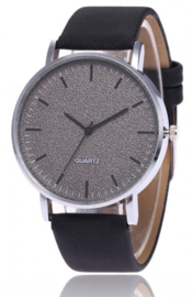 Horloge / Watch Black met glitters