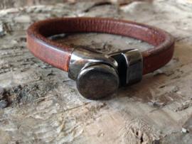 Lederen armband bruin 24