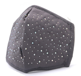 Mondkapje / Facemask crystal grey