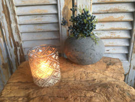 Exclusief waxine lichtje Silver S