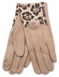 Handschoen Animal print Brown / Bruin