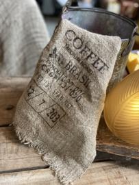 Shabby linnen lapje Coffee