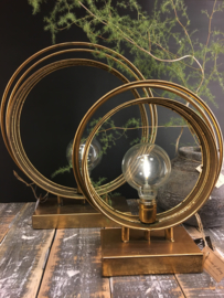 Gold platen led lamp rond L