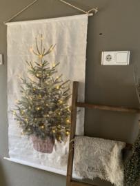 Linnen Kerstboom met Led