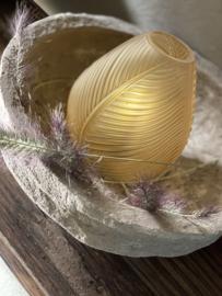 Tafel led-lamp leaf Matt Oker geel