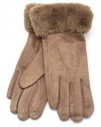 Handschoen Nep bont Brown / Bruin