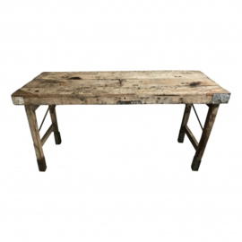 Oude stoere Markttafel inklapbaar