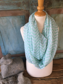 Shawl Grafisch Mint Green
