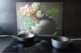 Keuken spatscherm bloemen
