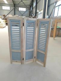 Shutters drieluik Blauw / Bleu