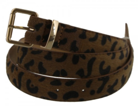 Riem luipaardprint bruin / brown 105