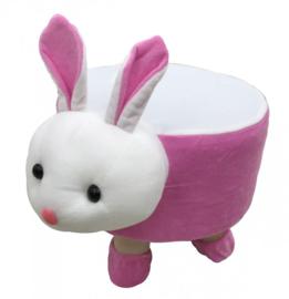 Pluche  kinder voetenbankje Konijn / Rabbit