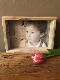 Moederdag topper houten fotolijstje L