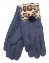 Handschoen animal print Bleu / Blauw