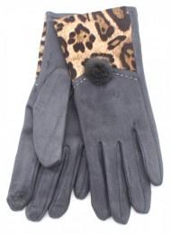 Handschoen Animal print Grey / Grijs