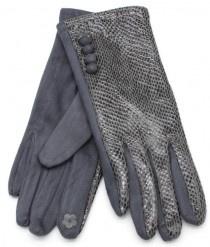 Handschoen Shiny Snake Grey / Grijs