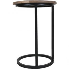Laptop bijzet tafel Roos rond  Zwart