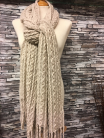 Wintershawls  kabels Creme