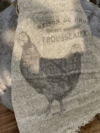 Shabby linnen lapje Kip Trousseaux