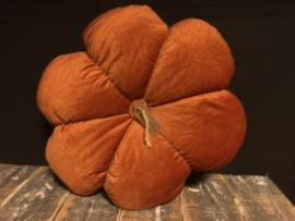 Velvet kussen bloem Orange