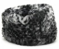 Imitatie bont hoedje Animal grijs / grey