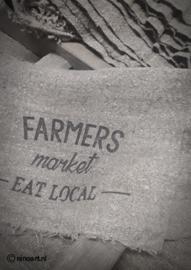 Shabby linnen Farmers Eat Loacal