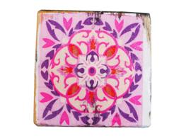 Onderzetters Zuiderlijk roze/paars pink/purple