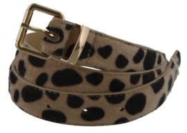 Riem luipaard print bruin/beige 105