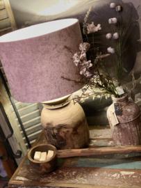 Lampenkap Roze velvet