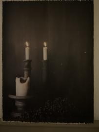Houten Paneel Candle Light