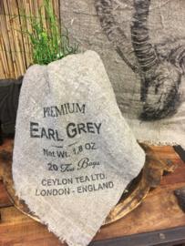 Shabby linnen lapje Earl Grey