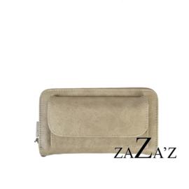 Zaza's Portefeuille met telefoonvakje Beige