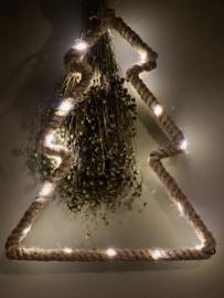 Jute kerstboom met led