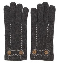 Wollen dames handschoenen Grey