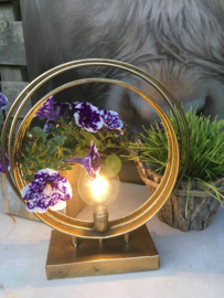 Gold platen led lamp rond L