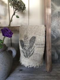 Shabby linnen lapje  Hyacint