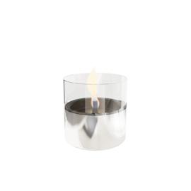 Tenderflame Lilly Silver glas 10 cm