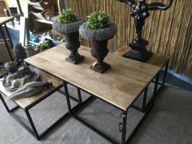 Trio salontafel Naturel/Zwart