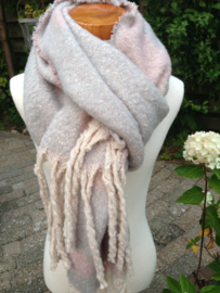 Winter shawl Grijsblauw / Rose