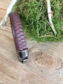 Lederen Armband Bruin 21