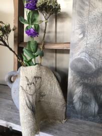 Shabby linnen lapje Tulp