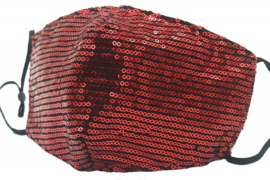 Mondkapje / Facemask glitter Red