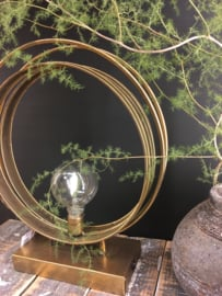 Gold plated led lamp rond