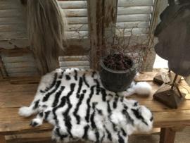 Konijnen vachtje Zebra