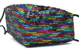 Mondkapje / Facemask glitter Rainbow