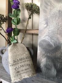 Shabby linnen  lapje Flowers