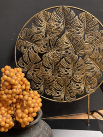 Ornament op standaard Leaf Gold