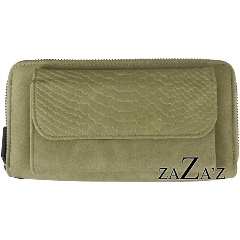Zaza's Portefeuille met telefoonvakje Green/Groen